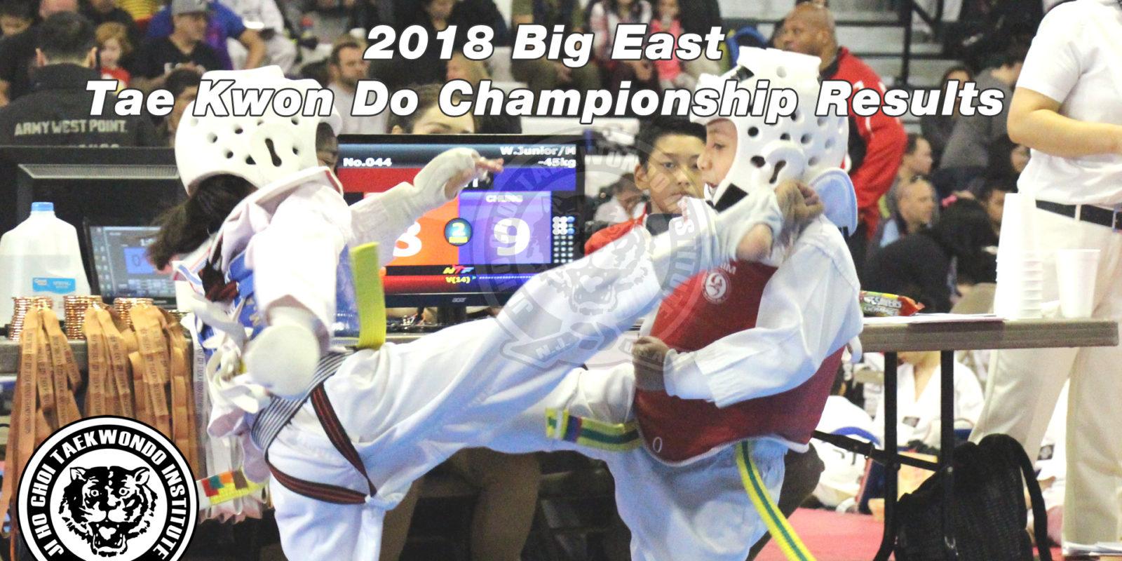 2018 Big East Taekwondo Championships Results