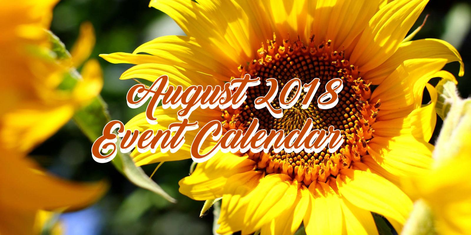 August 2018 Event Calendar