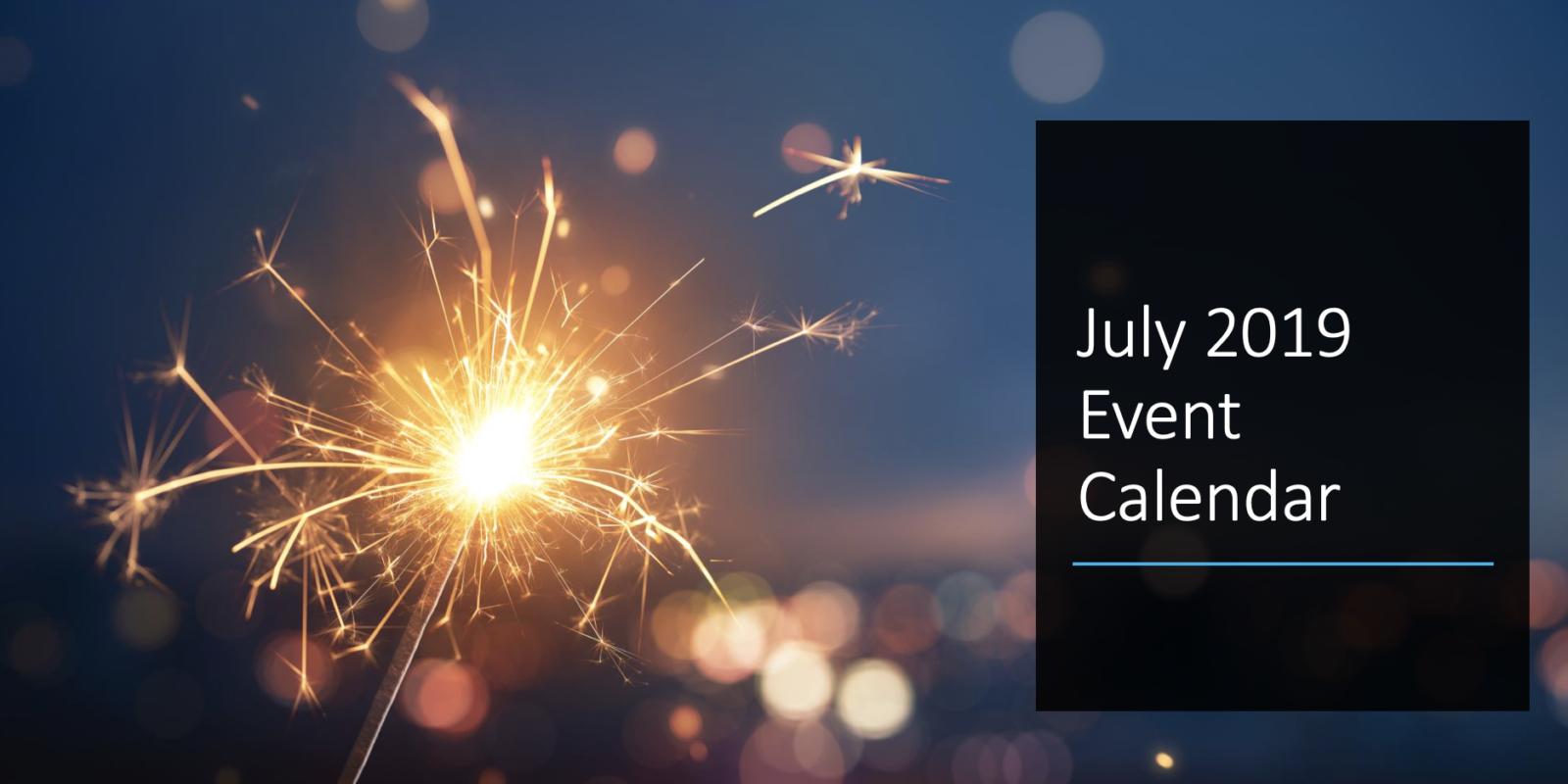 July 2019 Event Calendar