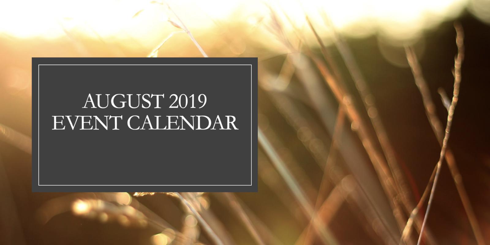 August 2019 Event Calendar